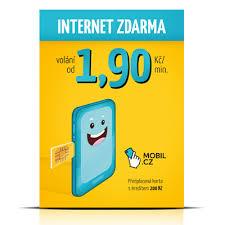 Předplacená SIMkarta Mobil.cz s kreditem 200 Kč