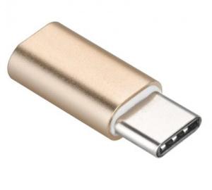 Adapter microUSB na USB-C, zlatá  (BLISTR)