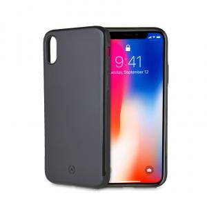 Zadní magnetický TPU kryt CELLY GHOSTSKIN pro Apple iPhone X/XS, kompatibilní s GHOST držáky, černý