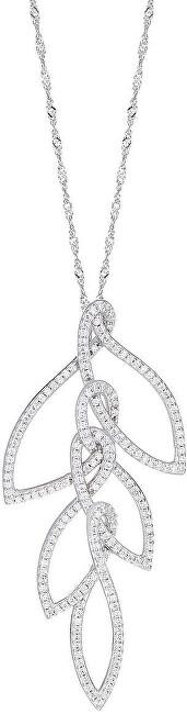 Stříbrný náhrdelník s třpytivým přívěskem 1930 SAHA04