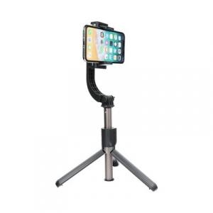 Selfie držák L08 se stabilizátorem a stativem, barva černá