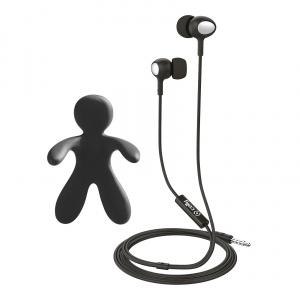 Set 2v1 CELLY Cesare & Augusto - stereo sluchátka a osvěžovač vzduchu, černý