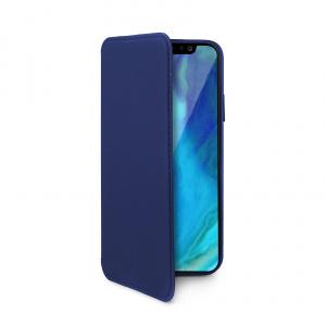 Pouzdro typu kniha CELLY Prestige pro Apple iPhone XS Max, PU kůže, modré