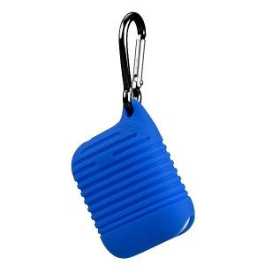 Pouzdro pro AirPods typ 2, barva tmavě modrá s karabinou