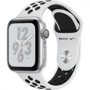 Hodinky Apple Watch Nike+ Series 4 40mm Silver Aluminium - Platinum Black Sport pásek 2018
