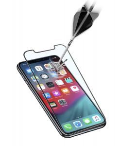 Ochranné tvrzené sklo pro celý displej Cellularline CAPSULE pro Apple iPhone XS Max, černé
