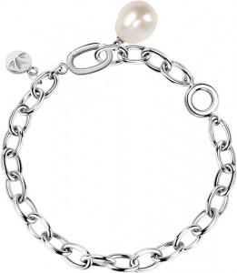 Masívní ocelový náramek s pravou perlou Oriente SARI13