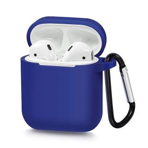 Pouzdro pro AirPods typ 1, barva modrá s karabinou