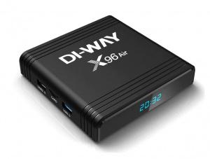 DI-WAY AND-X96 8K UHD 4-Core 4GB RAM, 32GB ROM, 5G, 3xUSB