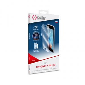Ochranné tvrzené sklo CELLY Glass antiblueray pro Apple iPhone 7 Plus/8 Plus