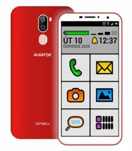 Aligátor S5710 DUO SENIOR Red (dualSIM) 16GB/2GB + tvrzené sklo (BONUS)