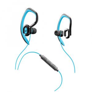Sportovní in-ear stereo sluchátka CELLULARLINE SPORT JUMP s externím hákem, AQL® certifikace, 3,5 mm jack, modrá