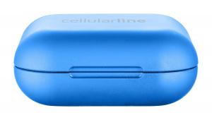 True wireless sluchátka Cellularline Java s dobíjecím pouzdrem, modrá