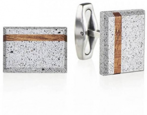 Manžetové knoflíčky z betonu a dřeva Falcon Wood GJCMWOG004UN