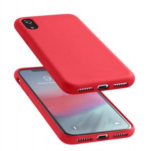 Ochranný silikonový kryt CellularLine SENSATION pro Apple iPhone XR červený