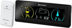 BresserTemeo Life Weather Station Display-black