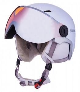 Lyžařská přilba Blizzard VIVA DOUBLE VISOR 56-59 WHITE/SILVER