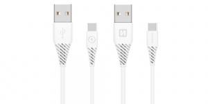 DATOVÝ KABEL SWISSTEN USB / USB-C 3.1 BÍLÝ 1,5 M (9mm)