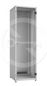 Rozvaděč Solarix LC-50 24U, 600x600 RAL 7035, skleněné dveře