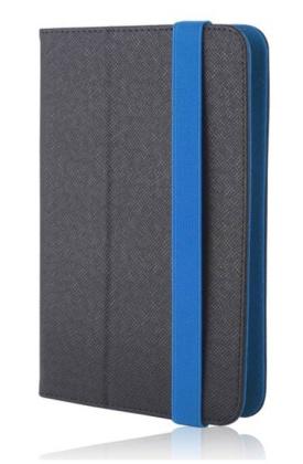 """Pouzdro Orbi pro tablet 7-8"""" univerzální knížkové, černá - modrá (BLISTR)"""