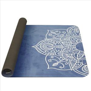 YATE Yoga Mat přírodní guma - vzor H 4 mm - modrá