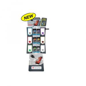 POS - Stojan kartonový Cellularline TEMPGLASS, 6 háků, CZ verze