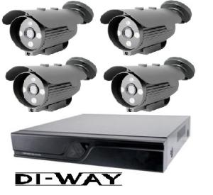 Zvýhodněný set: DI-WAY HDCVI 4 + 1 kamerový systém 720P, 3.6mm