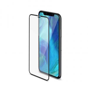 Ochranné tvrzené sklo CELLY 3D Glass pro Apple iPhone XS Max, černé (sklo do hran displeje, anti blue-ray)