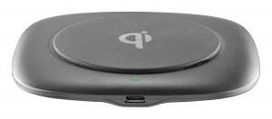 Bezrátová nabíječka Cellularline Wireless Fast Charger Easy, max. 10W, Qi kompatibilní, černá