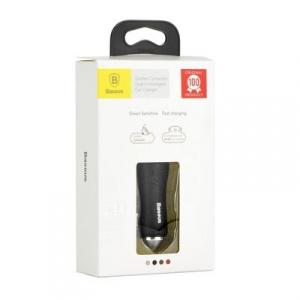 CL adaptér Baseus CCALL-DZ01, 2xUSB, QC, barva černá