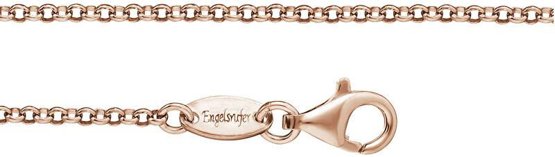 Růžově zlacený stříbrný řetízek ERN-R