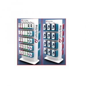POS - Oboustranný permanentní stojan Cellularline, max. 2x30 háků