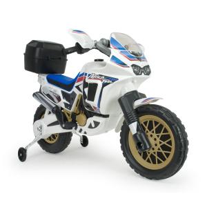 Injusa elektrická motorka Honda Africa Twin White 6V