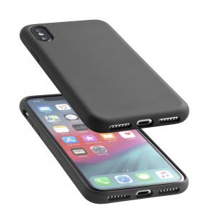 Ochranný silikonový kryt CellularLine SENSATION pro Apple iPhone XS Max, černý
