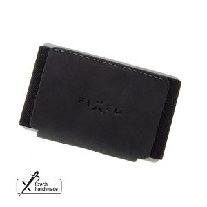 Kožená peněženka FIXED Tiny Wallet z pravé hovězí kůže, černá