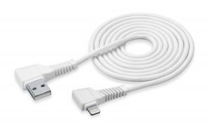 USB datový kabel L CellularLine s konektorem Lightning MFI, 200 cm, bílý