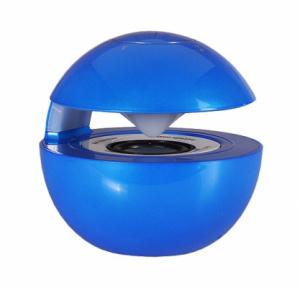 Mini reproduktor BlueTooth LED BALL barva modrá
