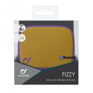 Bezdrátový reproduktor CELLULARLINE FIZZY, AQL® certifikace, fialovo-žlutý