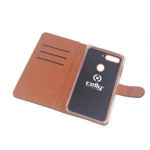 Pouzdro typu kniha CELLY Wally pro Huawei Honor 7C, PU kůže, černé