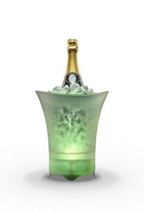 Chladící nádoba na šampaňské Cellularline Ice Music Bucket s Bluetooth reproduktorem, 5W, bílá