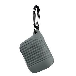 Pouzdro pro AirPods typ 2, barva šedá s karabinou