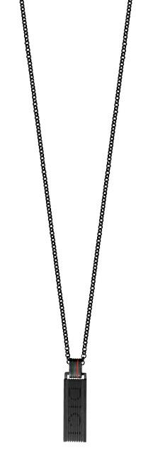 Černý náhrdelník pro muže DCNL50060200