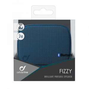 Bezdrátový reproduktor CELLULARLINE FIZZY, AQL® certifikace, modrý