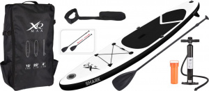 Paddleboard XQ MAX SUP 305 - BLACK SHARK SET