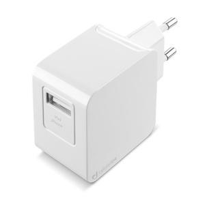 Cestovní nabíječka CellularLine s datovým kabelem a konektorem Apple Lightning, 2A