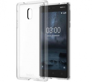 Kryt ochranný Nokia CC-103 Slim Crystal pro Nokia 3, transparent