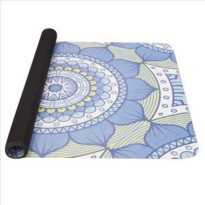 YATE Yoga Mat přírodní guma - vzor B  modrozelená
