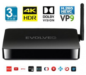Multimediální centrum EVOLVEO ANDROID BOX M8 Black - Android 7.1, WiFi, 8x2GHz, 16GB/3GB, UltraHD 4K