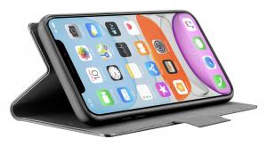 Pouzdro typu kniha Cellularline Elemento Dark Stone pro Apple iPhone 11