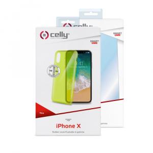 TPU pouzdro CELLY Ultrathin pro Apple iPhone X/XS, světle zelené